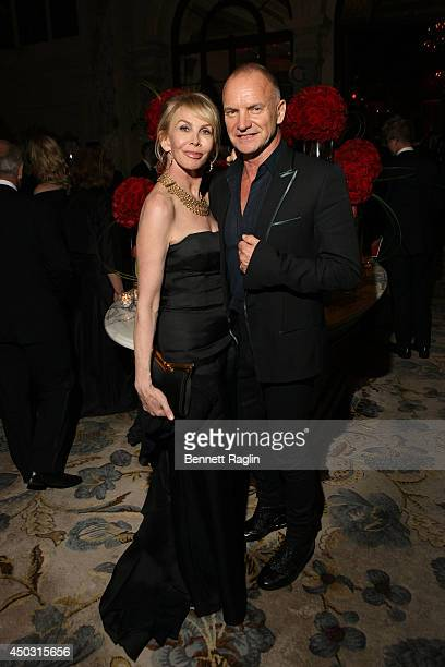 Trudie Styler and Sting attend the 68th Annual Tony Awards Gala at The Plaza Hotel on June 8 2014 in New York City