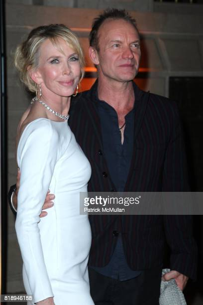 Trudie Styler and Sting attend THE ALMAY CONCERT to Celebrate the RAINFOREST FUND'S 21st Birthday at The Plaza Hotel on May 13th 2010 in New York City