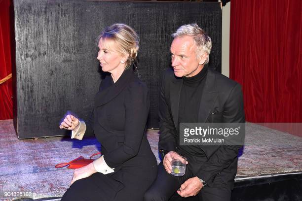 Trudie Styler and Sting attend The Cinema Society Bluemercury host the after party for IFC Films' 'Freak Show' at Public Arts on January 10 2018 in...