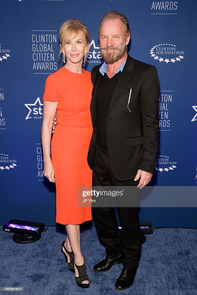 Trudie Styler and Sting attend the Clinton Global Citizen Awards during the second day of the 2015 Clinton Global Initiative's Annual Meeting at the Sheraton New York Hotel & Towers on September 27, 2015 in New York City.