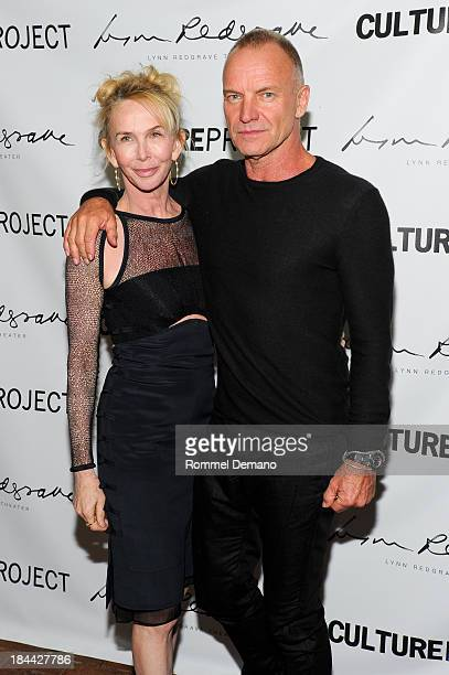 Trudie Styler and Sting attend The Culture Project's The Seagull opening night party on October 13 2013 in New York United States