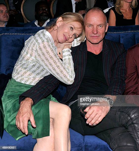 Trudie Styler and Sting attend the Showtime's 'PENNY DREADFUL' world premiere at The High Line Hotel on May 6 2014 in New York City