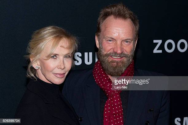 Trudie Styler and Sting attend the 'Zoolander 2' world premiere at Alice Tully Hall in New York City �� LAN