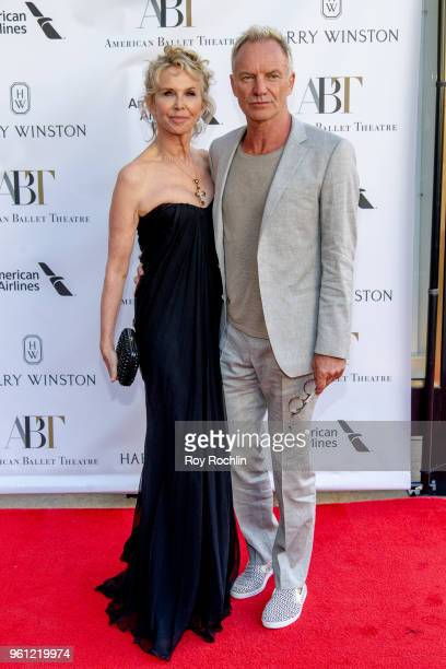 Trudie Styler and Sting attends the 2018 American Ballet Theatre Spring Gala at The Metropolitan Opera House on May 21 2018 in New York City