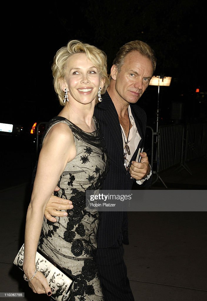 Trudie Styler and Sting during Cocktail Party for TRH The Prince of Wales and The Duchess of Cornwall at the Museum of Modern Art - November 1, 2005 at Museum of Modern Art in New York City, New York, United States.