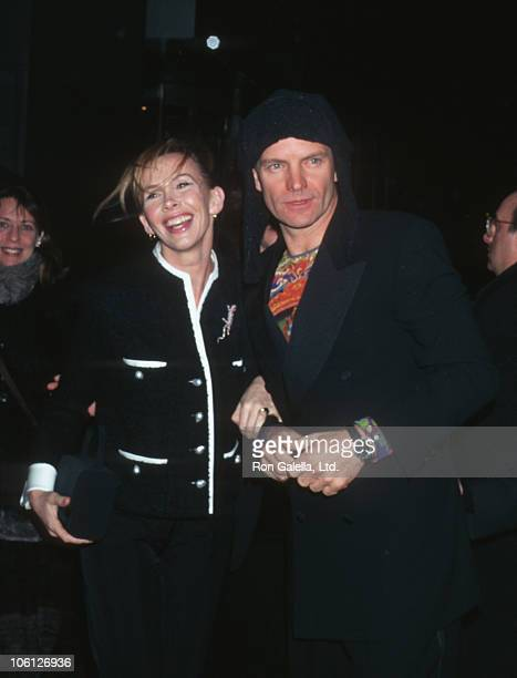 Trudie Styler and Sting during Gentleman Don't Eat Poets Broadway Opening Night at Sony Lincoln Square Theater in New York City New York United States