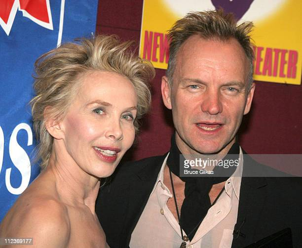 Trudie Styler and Sting during Sting and Trudie Styler in a Benefit For Broadway Cares/Equity Fights AIDS March 27 2006 at The New Victory Theater in...