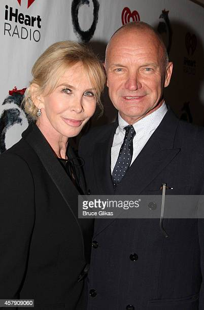 Trudie Styler and Sting pose at The Opening Night of The Last Ship on Broadway at The Neil Simon Theatre on October 26 2014 in New York City