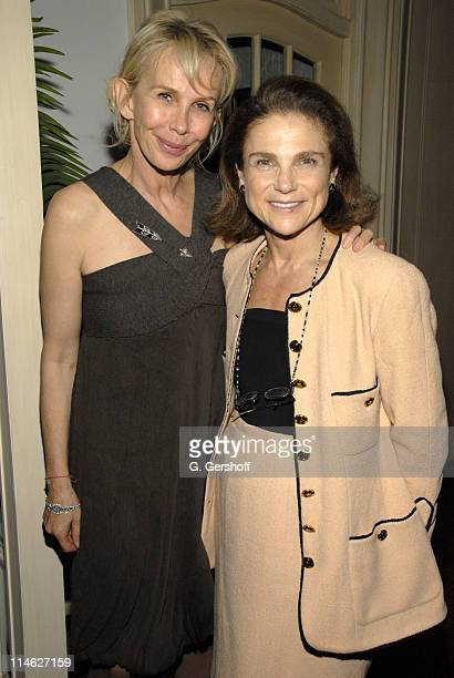 Trudie Styler and Tovah Feldshuh during 'A Guide to Recognizing Your Saints' After Party at Private Residence in New York New York United States