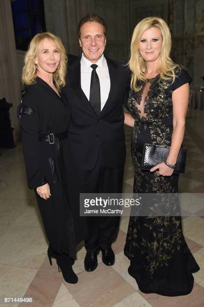 Trudie Styler Andrew Cuomo and Sandra Lee attend the Elton John AIDS Foundation Commemorates Its 25th Year And Honors Founder Sir Elton John During...