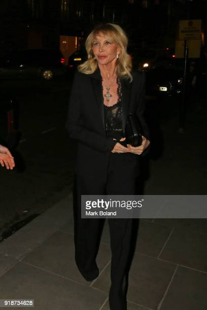 Trudie Styler arrives at the Dunhill GQ preBAFTA Filmmakers Dinner and Party Cohosted by Andrew Maag Dylan Jones at Bourdon House on February 15 2018...