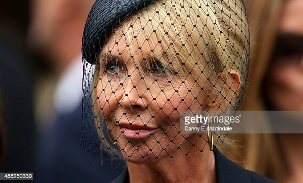 Trudie Styler attends a memorial service for Mark Shand at St Paul's Church on September 11 2014 in London England