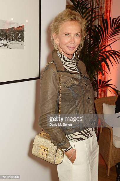 Trudie Styler attends The 8th Annual Filmmakers Dinner hosted by Charles Finch and JaegerLeCoultre at Hotel du CapEden Roc on May 13 2016 in London...