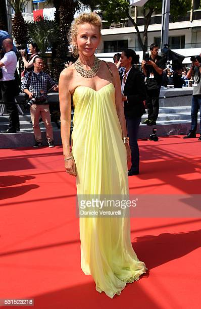 Trudie Styler attends the American Honey premiere during the 69th annual Cannes Film Festival at the Palais des Festivals on May 15 2016 in Cannes...