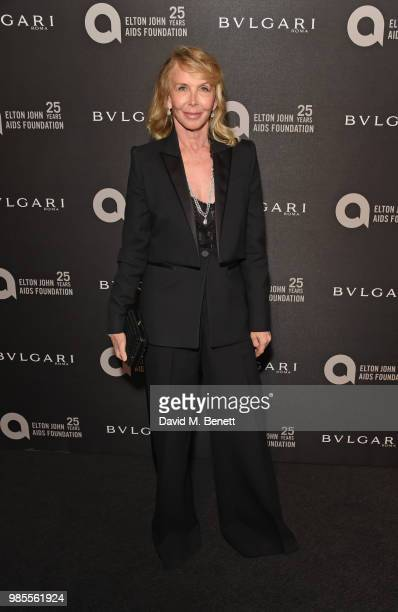 Trudie Styler attends the Argento Ball for the Elton John AIDS Foundation in association with BVLGARI Bob and Tamar Manoukian on June 27 2018 in...