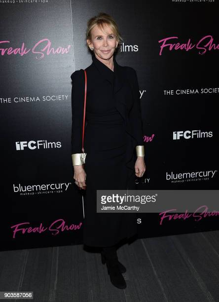 Trudie Styler attends The Cinema Society Bluemercury Host The Premiere Of IFC Films' 'Freak Show' at Landmark Sunshine Cinema on January 10 2018 in...