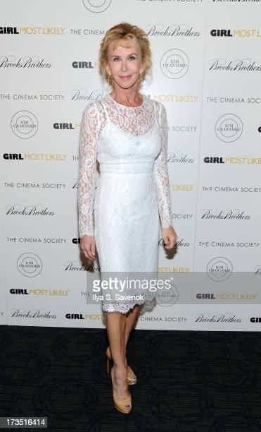 Trudie Styler attends The Cinema Society Brooks Brothers Host A Screening Of Lionsgate And Roadside Attractions' 'Girl Most Likely's at Landmark...