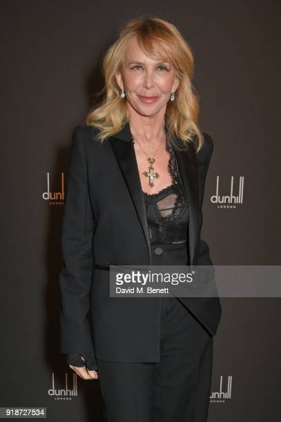Trudie Styler attends the Dunhill GQ preBAFTA filmmakers dinner and party cohosted by Andrew Maag Dylan Jones at Bourdon House on February 15 2018 in...