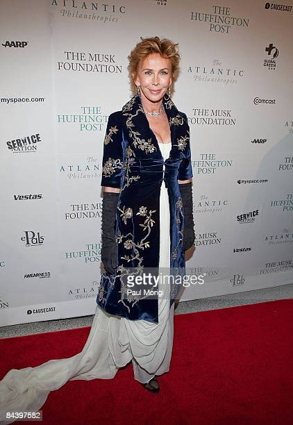Trudie Styler attends The Huffington Post preinaugural ball at the Newseum on January 19 2009 in Washington DC