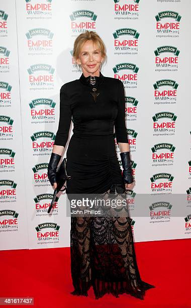 Trudie Styler attends the Jameson Empire Film Awards at The Grosvenor House Hotel on March 30 2014 in London England