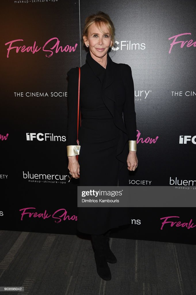Trudie Styler attends the premiere of IFC Films' 'Freak Show' hosted by The Cinema Society at Landmark Sunshine Cinema on January 10, 2018 in New York City.