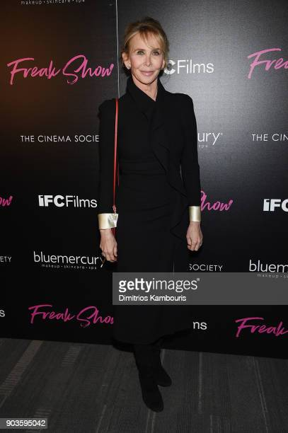 Trudie Styler attends the premiere of IFC Films' 'Freak Show' hosted by The Cinema Society at Landmark Sunshine Cinema on January 10 2018 in New York...