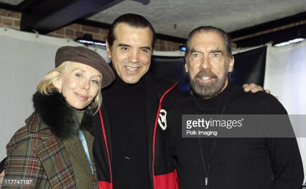 Trudie Styler, Chazz Palminteri and John Paul DeJoria, founder of John Paul Mitchell Systems Hair Care, at the Premiere Film and Music Lounge