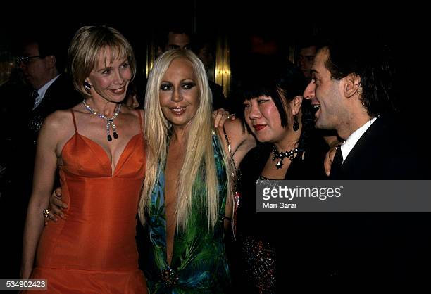 Trudie Styler Donatella Versace Anna Sui and Marc Jacobs at Metropolitan Museum of Art Costume Institute Gala New York December 6 1999
