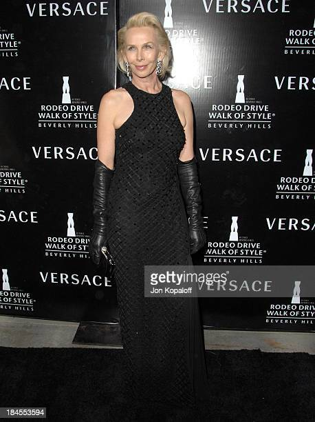 Trudie Styler during Gianni and Donatella Versace Receive The Rodeo Drive Walk of Style Award Arrivals at Beverly Hills City Hall in Beverly Hills...
