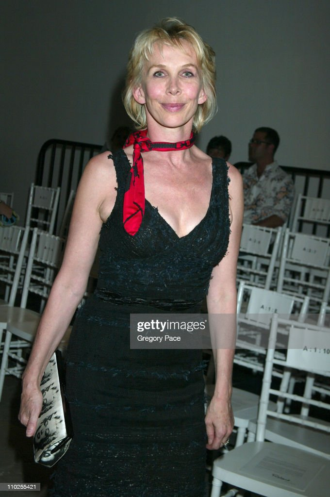 Trudie Styler during Olympus Fashion Week Spring 2006 - Roland Mouret - Sponsored by Motorola - Front Row and Backstage at Skylight Studios in New York City, New York, United States.