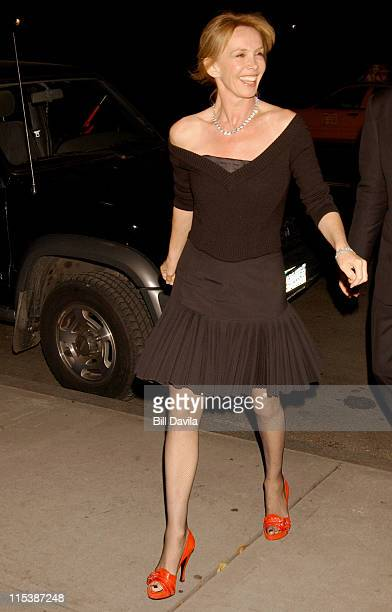 Trudie Styler during Sting's 52nd Birthday Party at New York City in New York City New York United States