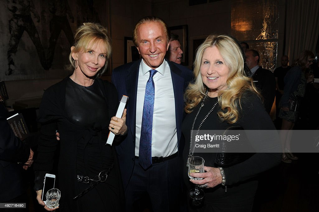 Trudie Styler, Geoffrey Kent and Jane Holzer attend Geoffrey Kent's book launch celebrating: 'Safari: A Memoir Of A Worldwide Travel Pioneer' on October 14, 2015 in New York City.