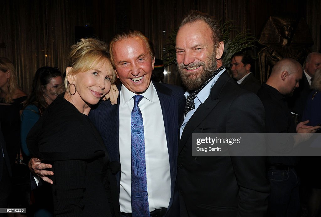 Trudie Styler, Geoffrey Kent and Sting attend Geoffrey Kent's book launch celebrating: 'Safari: A Memoir Of A Worldwide Travel Pioneer' on October 14, 2015 in New York City.