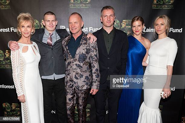 Trudie Styler Giacomo Sumner Sting Joe Sumner Fuchsia Sumner and Mickey Sumner attend the after party for the 25th Anniversary concert for the...