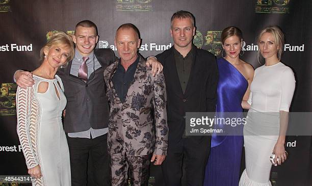 Trudie Styler Giacomo Sumner Sting Joe Sumner Fuchsia Sumner and Mickey Sumner attend the 25th Anniversary Rainforest Fund Benefit at Mandarin...