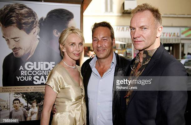 Trudie Styler, Henry Winterstern and Sting at the Olympia Cinema in Cannes, France.