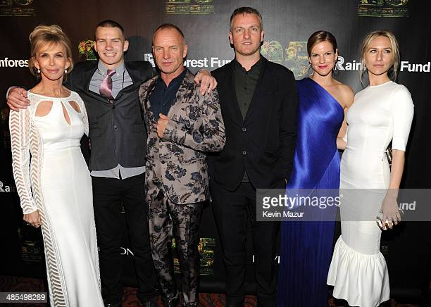 Trudie Styler Jake Sumner Sting Joe Sumner Kate Sumner and Mickey Sumner arrive at the 25th Anniversary Rainforest Fund Benefit at Mandarin Oriental...
