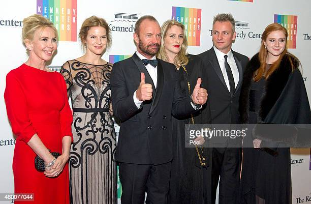 Trudie Styler Kate Sumner Sting Mickey Sumner Joe Sumner and Kate Finnerty attend the 2014 Kennedy Center Honors Gala Dinner at the US Department of...