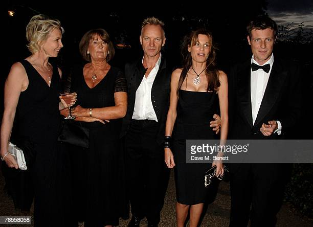 Trudie Styler Lady Annabel Goldsmith Sting Jemima Khan and Zac Goldsmith attend the Royal Parks Foundation Summer Party hosted by CandyCandy at the...