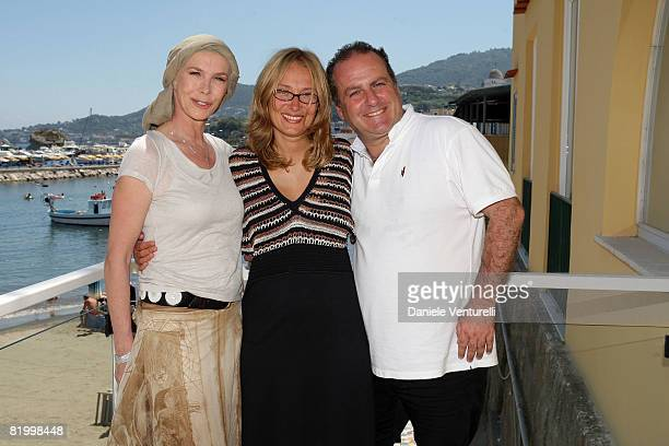 Trudie Styler Nicoletta Mantovani and Pascal Vicedomini attend day four of the Ischia Global Film And Music Festival on July 19 2008 in Ischia Italy