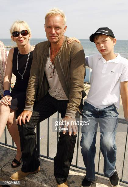 Trudie Styler Sting and Giacomo Sumner during The 63rd International Venice Film Festival Guide to Recognizing Your Saints Lunch at Nikki Beach in...