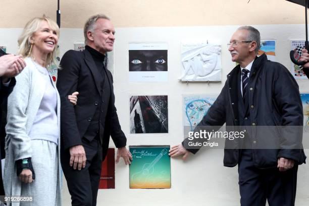 Trudie Styler Sting and Patrizio Cencioni attend Benvenuto Brunello 2018 at Teatro degli Astrusi on February 17 2018 in Montalcino Italy