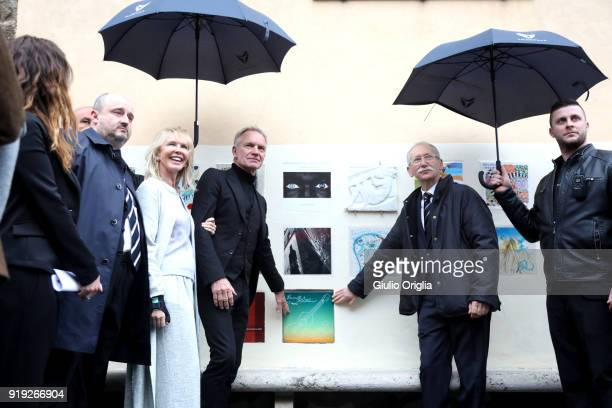 Trudie Styler Sting and Patrizio Cencioni attend Benvenuto Brunello 2018 at Teatro degli Astrusi on February 17 2018 in Montalcino Italy