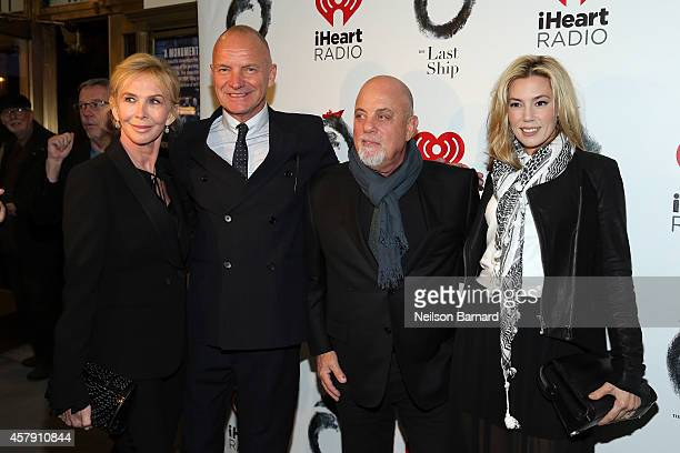 Trudie Styler Sting Billy Joel and Alexis Roderick attend the opening night of The Last Ship on Broadway at The Neil Simon Theatre on October 26 2014...