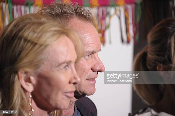 Trudy Styler and her husband Musician Sting attend the United Nations Day Concert at United Nations on October 24 2012 in New York City