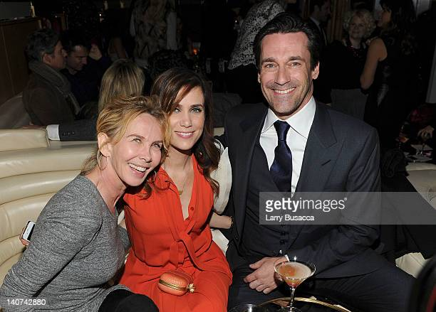 Trudy Styler Kristen Wiig and Jon Hamm attend the after party for the Cinema Society People StyleWatch with Grey Goose screening of Friends With Kids...