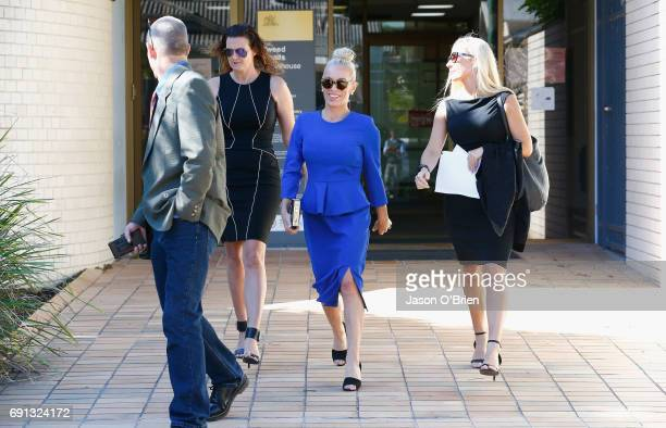 Trudy Todd leaves tweed heads local court on June 2 2017 in Gold Coast Australia Mercedes Corby is challenging an apprehended violence which was laid...