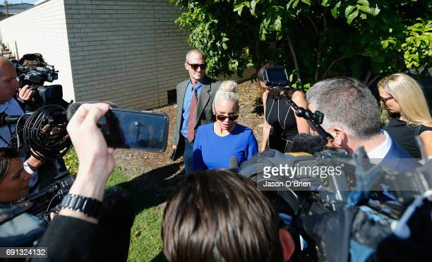 Trudy Todd speaks to the media on June 2 2017 in Gold Coast Australia Mercedes Corby is challenging an apprehended violence which was laid by police...