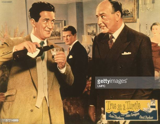 True As A Turtle US lobbycard from left John Gregson Cecil Parker 1957