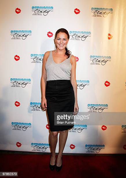 True Beauty Winner Julia Anderson arrives for 'Seducing Cindy' Finale Party at Guy's North on March 18 2010 in Studio City California